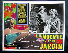 "LUIS BUNUEL ""LA MUERTE EN ESTE JARDIN"" SIMONE SIGNORET N MINT LOBBY CARD PHOTO"