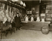 Old Time Butcher Shop Meat Market Sides of Beef Sawdust Floor Oleomargarine