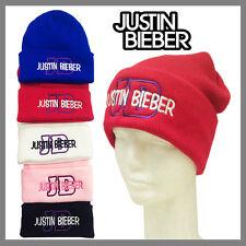 **RED** JUSTIN BIEBER BEANIE WINTER CAP HAT FOLD UP CUFF BEANIE