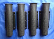 FISHING ROD HOLDERS X4 MATT BLACk  PLASTIC SIDE MOUNTED 230mm x 45mm BOAT  RIB