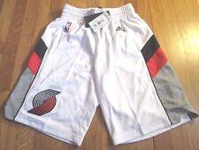NEW ADIDAS NBA PORTLAND TRAILBLAZERS SWINGMAN WHITE GAME SHORTS SIZE S jersey