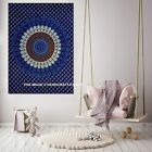 Blue Peacock Mandala Poster Indian Wall Hanging Cotton Home Decor Table Cloth
