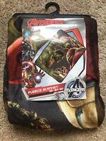 Marvel Avengers Hulk Fight Iron Man Fleece Blanket Microfiber Plush Throw 45x60