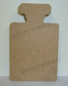Perfume bottle in MDF (65mm x 40mm x 6mm thick) SET OF 3