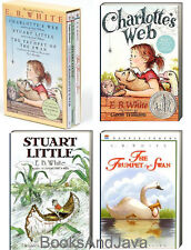 Charlotte's Web, Stuart Little, The Trumpet of the Swan by E B White (Box Set)