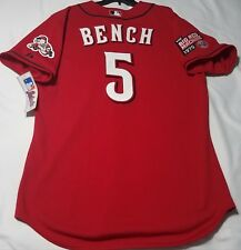 Authentic Majestic 48 XL, CINCINNATI REDS JOHNNY BENCH, ON FIELD Jersey RARE!