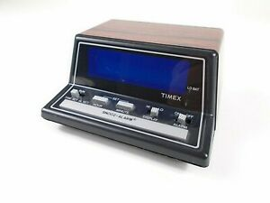 Vintage Digital Timex Alarm Clock Model 5221 Woodgrain Free Shipping