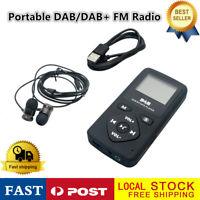 Portatile DAB DAB+ FM bluetooth TF Radio Digitale LCD Lettore MP3 + Auricolare