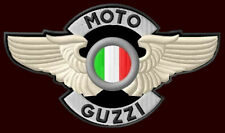 "MOTO GUZZI WINGED EMBROIDERED PATCH~5-1/2""x 3-1/4"" MOTORCYCLE CALIFORNIA LE MANS"