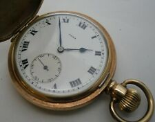 Rolex WWII Hunter Pocket Watch Marriage Working 1941 AFS Fire Service