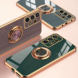 Magnetic Ring Holder Phone Case For Samsung S21 Ultra S20  Note 20 A32 A52 A72