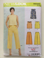New Look sewing pattern k 6459 simple easy top / loose wide cropped trousers