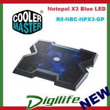 Cooler Master Notepal X3 Laptop Cooler 20cm Blue LED Fan Cooling Pad