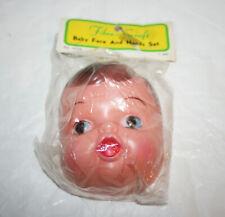 New Vtg Chicago Fibre-Craft Doll Baby Face & Hands Set Parts No.4234
