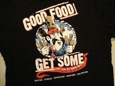 Old West Cafe Good Food Get Some! Locations Souvenir Black T Shirt Size M