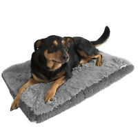Dog & Cat Pet Bed Bolster Foam Deluxe Bedding Cuddler Fluffy Pillow- Large Gray