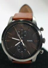 Fossil FS5522 Men's Townsman Brown Leather Strap Watch 44mm $159 READ AD!