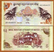 Bhutan, 5 Ngultum, 2006, P-28, UNC -> ornate