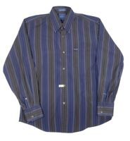 Faconnable Multicolor Striped Button Front Long Sleeve Mens Shirt Size Medium