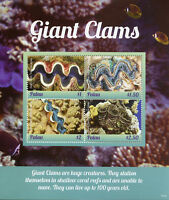 Palau 2018 MNH Giant Clams 4v M/S Corals Coral Reefs Marine Stamps