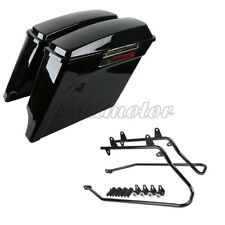 Saddlebags Saddle Bags & Conversion Brackets For Harley Softail Deluxe 1986-2013