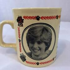 Vintage 1981 Princess Diana Mug Cup Prince Charles Wedding Made in England