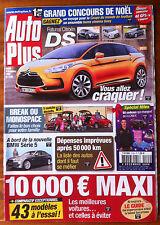 AUTO PLUS du 8/08/2009; Citroen DS/ Break ou Monospace/ 43 modèles 10000 maxi