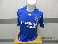 VINTAGE ADIDAS CHELSEA F.C. SEWN LARGE JERSEY BLUE/WHITE PREOWNED 100% POLY