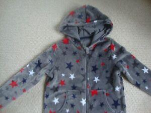 M&S boy's star print all one fleece age 11-12