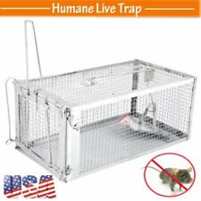 USA Animal Trap | Humane Steel Cage Rodent Spring Loaded Raccoon 27.5x15x12 AP