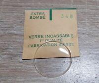 Verre de montre suisse bombé plexi diamètre 348 Watch crystal vintage *NOS*