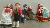 Lot of 5 Vintage souvenir dolls