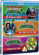 TEENAGE MUTANT NINJA TURTLES 1 2 & 3 Trilogy TMNT Movie Boxset NEW BLU-RAY