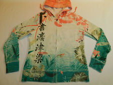 LUCKY BRAND HOODIE ASIAN FLORAL WOMEN'S L
