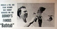 """DORMOY BATHTUB PLANS + BUILDING ARTICLE 28"""" & 35"""" TWO Scale FF Model Airplanes"""