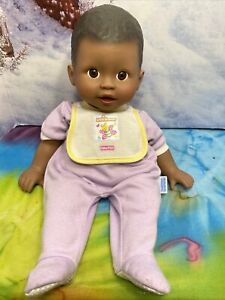 """LITTLE MOMMY FISHER-PRICE 15"""" AFRICAN AMERICAN BOY BABY DOLL MATTEL 2004"""