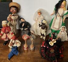 New ListingVintage Collectible Ethnic Folk World Travel Souvenir Dolls * Lot Of 11 * Rare
