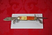 Vintage Imperial Finial Boy Scout Folding Pocket Knife BE PREPARED Mid Century