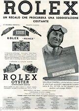 ROLEX OYSTER-PRINCE - UN REGALO CHE PROCURERA' UNA SODDISFAZIONE COSTANTE -1936