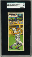 1955 Topps Double Header  Headers #69/70 TED WILLIAMS Red Sox HOF Smith SGC NM 7