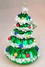 """Christmas Tree Ornament Vintage Inspired Large Glass 5.5"""" Decor Kurt Adler"""