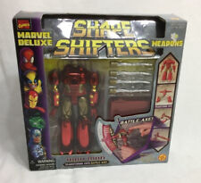 1999 Toybiz Marvel Deluxe Shape Shifters Iron Man Battle Ax NEW Boxed Sealed