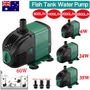 2800L/H Submersible Fish Water Pump Pond Aquarium Tank Waterfall Fountain Sump