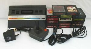 ATARI 2600 Video Game System +17 Games Combat Asteroids Dig Dug Lot AS-IS