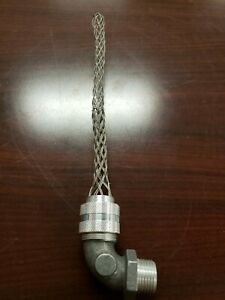 HUBBELL KELLEMS 07401080 Deluxe Cord Grip,90°1/2 in.Thread .500-.625in.Cable