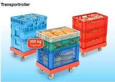 ROLLWAGEN ROLLBEHÄLTER  ROLLDOLLY 60x40cm E2-Kisten STAPELKISTEN / TRR-204-1blau