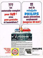 PUBLICITE ADVERTISING 055  1967  PHILIPS  auto-radio MINAUTO