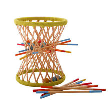 Hape Eco Bamboo Sticks & Tumbling Ball Balance Strategy Pallina Game (4 Pack)