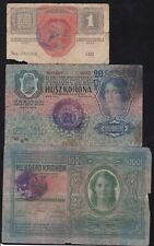 Yugoslavia - Shs - Lot - 3 Banknotes - Kronen - With Seal -