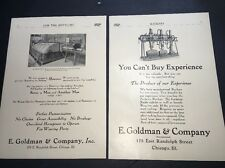 1907 Beer Ad Brewery Equipment Goldman Chicago  2 Pages Wacker & Birk Brewery